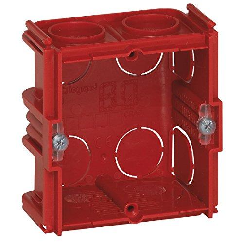 Legrand Batibox LEG90531 - Caja para muros de sillería y ladrillo (1 compartimento, profundidad de 40 mm)