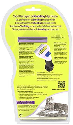 FURminator Fellpflege deShedding-Pflegewerkzeug für kurzhaarige kleine Katzen bis 4,5 kg, Größe S, 1 Tool - 3