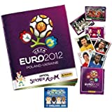 Panini Official UEFA Euro 2012 Sticker Collection Starter Pack Album Book + 3 Stickers & 1 England GoGo (Random)