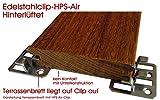 HPS® 50Stück Edelstahl Terrassenclip HPS Air Hinterlüftet Clip für die Befestigung von Holzterrassen