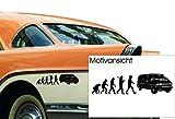 KFZ Aufkleber 'Evolution VW T4 Bus' Transporter; Volkswagen// Autoaufkleber; Farben- und Größenwahl (Weiß - 600 mm x 150 mm)