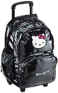 Hello Kitty Sac à dos enfant avec 2 roulettes et 2 Compartiments 45 cm (noir)