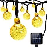 AMIR Solar Lichterkette, 30er LED Kugel-Solar-Lichterkette, Solar Lichterkette Garten Globe Außen 6 Meter, Solar Beleuchtung Kugel für Party, Weihnachten, Halloween, Fest Deko usw. ( Warmweiß) -