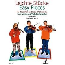 Leichte Stücke: 2 Violinen und Viola (Violoncello). Partitur.