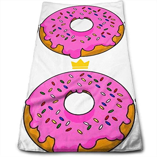 Hipiyoled Pink Doughnut Fade-Resistant Super Absorbent Shower\Beach\Bath Towels Workout,Gym,Fitness,Golf,Yoga,Camping,Hiking,Bowling,Travel,Outdoor Sports Towel