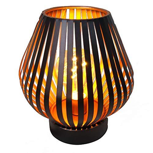 Hab & Gut Farol de Mesa Decorativa Cobre LED L237- Cono Lámpara de Mesa de Metal para Uso en Exteriores