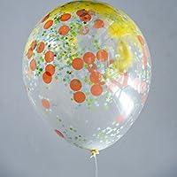 XXL Ballon mit Konfetti und Federn gefüllt