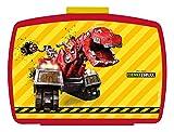 p:os 25419 DreamWorks Dinotrux Brotdose Premium mit Einsatz, 16 x 12 x 6,5 cm
