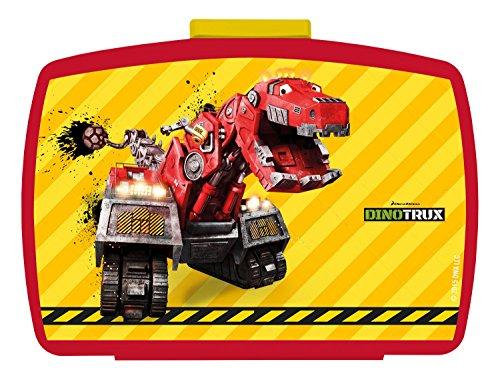 p:os 25419 - Brotdose Premium mit Einsatz DreamWorks Dinotrux, 16 x 12 x 6.5 cm