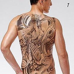 EROSPA® Tattoo-Bogen temporär - Aufkleber Ganzer Rücken #1 - 34 x 48 cm
