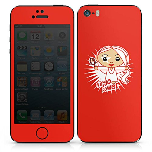 Apple iPhone SE Case Skin Sticker aus Vinyl-Folie Aufkleber Jungfrau Sterne Sternzeichen DesignSkins® glänzend