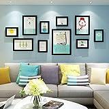 Telaio Photo wall frame Parete in legno massello Photo Frame Continental Parete Piccola combinazione creativa fresca Parete del soggiorno Parete moderna minimalista Design alla moda (Colore : A)