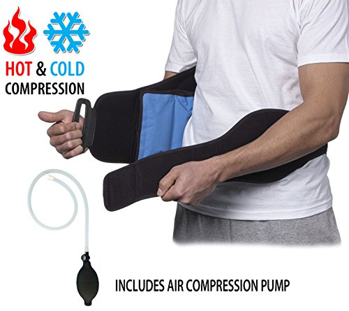 NatraCure aufblasbarer Wärmetherapie & Kältetherapie Lendenwirbelstütze Gürtel – kalt warm Kompression Rückenbandage zur Schmerzlinderung bei Ischias / Rücken Schmerzen & Sportverletzungen