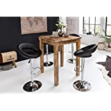 FineBuy table de bar Rusti 80 x 80 x 110 cm en bois massif Vintage Küchenbartisch | Design Villa table de bar | Table haute Shabby Chic bois de mangue