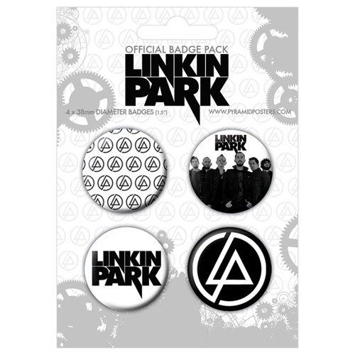 Preisvergleich Produktbild LINKIN PARK - Pack 4 badges Minutes To Midnight