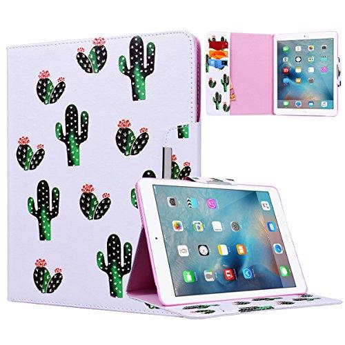 Yokata Apple iPad 2 / iPad 3 / iPad 4 Hülle Case Schutzhülle Tasche mit Standfunktion und Auto Sleep / Wake Up Funktion Slim Ultra Dünn Hochwertiges PU Leder Etui Ledertasche für Apple iPad 2 / 3 / 4 (9,7 Zoll) Tablet Etui - Kaktus