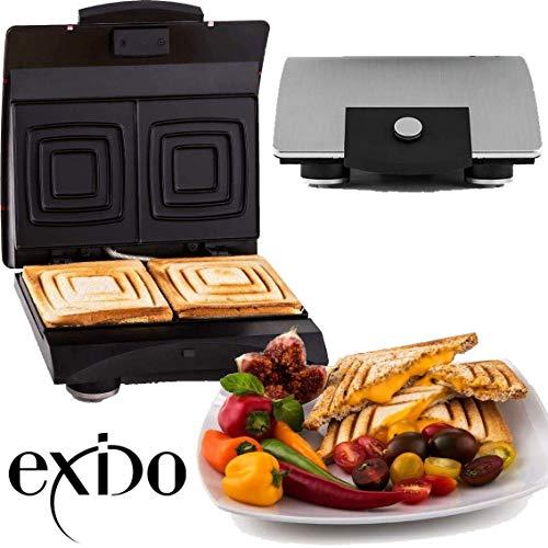 Exido 12-24-0004, Sandwich Design Maker Sandwichmaker Doppel Sandwichtoaster 700 Watt Zubereitung in...