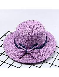 Fzwang Señoras Sombrero sombrilla Capota Mariposa Sol Ocio Pescador Sombrero  de Paja Paja 58cm eea8817a524