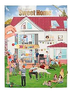 Top Model Cuaderno Colorear Create Your Sweet Home (0010367), Multicolor (DEPESCHE 1)