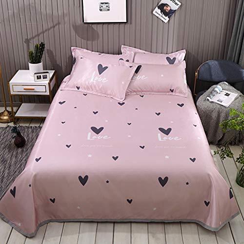 ce Silk Bed Sheet dreiteilige Faltbare waschbare weiche Sommer-Schlafmatte Kühlung Sommer-Isomatte Klimaanlage Zimmer Bettlakenbezug Bettwäsche (Color : Pink) ()