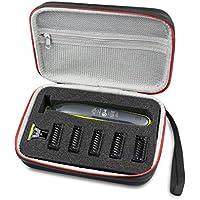 Duro Estuche Viajes Funda Bolso para Philips OneBlade QP2530/30 QP2520/30 Recortador by AONKE