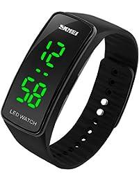 Hiwatch LED Uhr Sportuhr Wasserdichte Digitaluhr Armbanduhr Unisex Schwarz