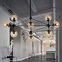 qwer pendant deckenleuchte lampe kreative wohnzimmer bgeleisen jugendstil kronleuchter industrial elementen aus glas lampe - Jugendstil Wohnzimmer