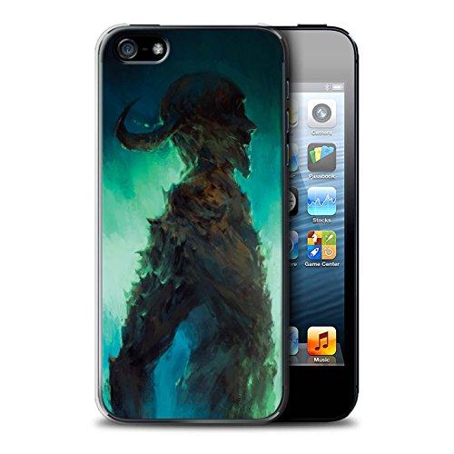 Offiziell Chris Cold Hülle / Case für Apple iPhone 5/5S / Dunkelste Stunde Muster / Dämonisches Tier Kollektion Gehörnter Dämon