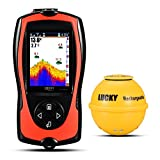 Lucky Ecoscandaglio da pesca ricaricabile wireless Fish Finder LCD ad alta definizione