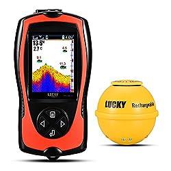 LUCKY Wireless Tragbarer Fisch-Finder Sonar Fisch Finder für Boot, Meer, Fluss, Ice Fischen