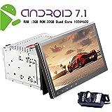 EinCar Doppel-DIN-Autoradio -Android 7.1 16GB RAM 2 GB RAM mit 10,1 '' Zoll-Screen-Autoradio-Video-Unterst¨¹tzung Split-Screen-Multitasking-Auto-DVD-Player FM-AM RDS Radio GPS Navigation Bluetooth WIFI OBD 3G 4G + Free Kamera