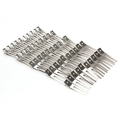 Preisvergleich Produktbild Dealglad Haarklammern, 46mm, 2 Doppelzähne, 50 Stück
