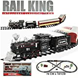 Steam locomotive train set 8 units 3.2 meter track battery powered childsafe