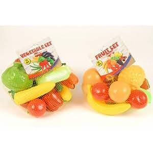 Eddy Toys - 72379 - Jeu d'imitation - Filet Fruits ou Légumes pour Dinette x 27