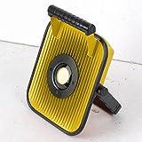 LED Wechsel-Akku Arbeitsleuchte 50W Baustrahler Fluter Baulicht Lautsprecher mit USB & Bluetooth