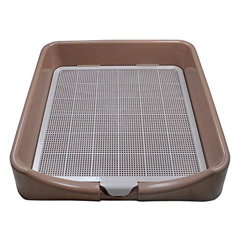 LVCS Pet Wc Dog WC Outdoor Indoor Pet Wurfkiste, Pet Tray WC-Box, Mesh Pad Tragbare Pet Litterbox Geeignet für Katzen/kleine Hunde