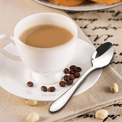 comprare on line AckMond 12 pezzi (13,5 cm, 5,3 pollici) cucchiaio da caffè, cucchiaini, specchio di lucidatura cucchiaio set prezzo