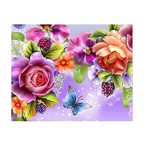 osmanthusFrag DIY Kreuzstich Home Decor 5D Full Diamond Malerei Handwerk Blume Schmetterling Pattren D Multi