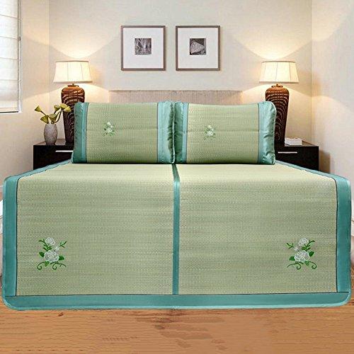 it Bambus Schlafmatte Sommer Schlafen Cool Matte Kaltes Gewebe Faltbar Beidseitig Glatt Gesundheit Gras, 2 Farben, 6 Größen Sinnvoll (Farbe : B, größe : 150X195CM) ()