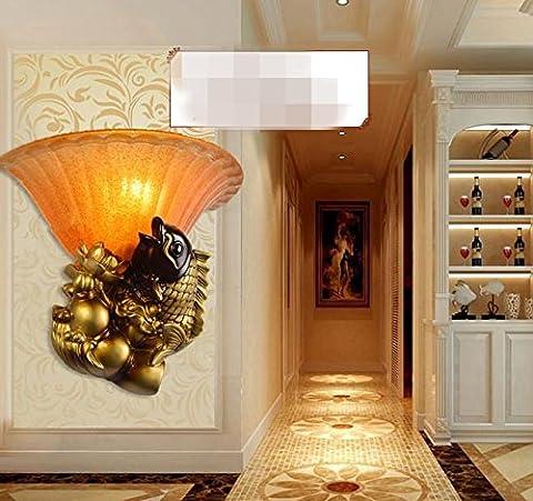 Résine De Verre Lampe Murale Européenne Salon Chambre À Coucher