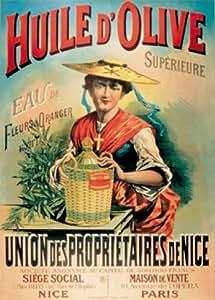 Plaque métal décorative - Publicité Huile d'olive Extra de Nice France