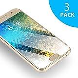 Samsung Galaxy A3 2017 Panzerglasfolie - 3 Stück, SUERW Schutzfolie für Samsung Galaxy A3 2017 [0,33 mm HD Ultra,9H Härtegrad,Anti-Öl,Anti-Bläschen,Anti-Fingerabdruck]