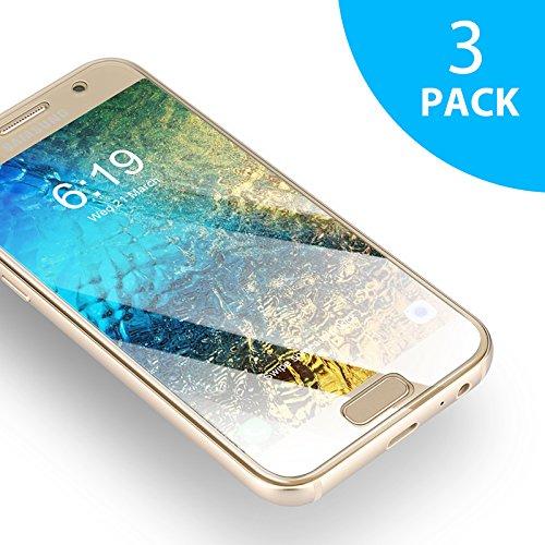 Samsung Galaxy A3 2017 Panzerglasfolie - 3 Stück, SUERW Schutzfolie Kompatibel mit Samsung Galaxy A3 2017 [0,33 mm HD Ultra,9H Härtegrad,Anti-Öl,Anti-Bläschen,Anti-Fingerabdruck]