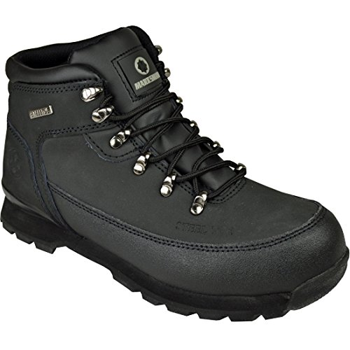 Mens Safety Boots Steel Toe CAPS Ankle Trainers Hiking Shoes Black 6-13 Work