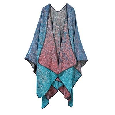 Vesub Women's Winter Reversible d Blanket Poncho Cape Shawl Cardigans