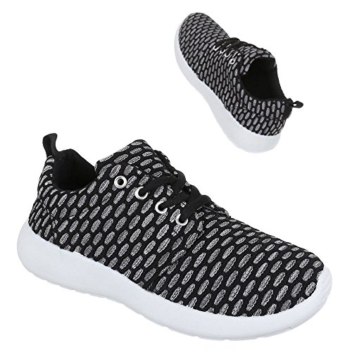 Chaussures pour femme, zy003, Chaussures Sneaker Casual Chaussures Noir - Noir