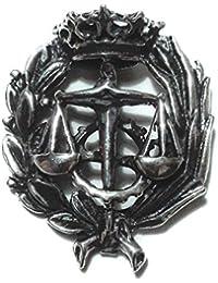 Alylosilver Insignia Profesional de Graduado Social para Hombre Mujer en Plata 925 con Caja para Regalo