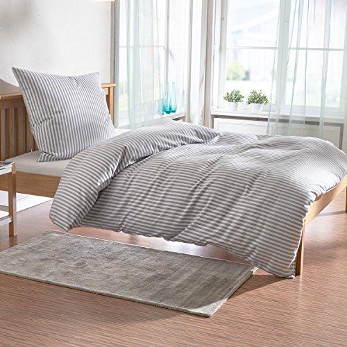 Janine Design Edelflanell Bettwäsche Chinchilla 78010-88 155x220 cm + 80x80 cm (Bettwäsche Chinchilla)