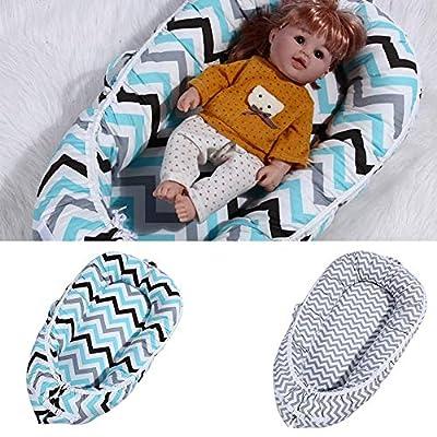 Luerme Cuna portátil Bebé nido Múltiples funciones Plegable Recién nacido Cama biónica para dormir Cuna de viaje Algodón Recién nacido Colchón