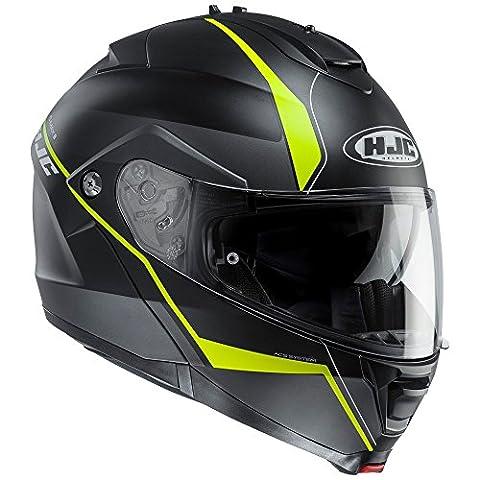 HJC IS-MAX 2/II Flip Front Up DVS Motorcycle Helmet-Mine MC4HSF Black/Yellow 2XL